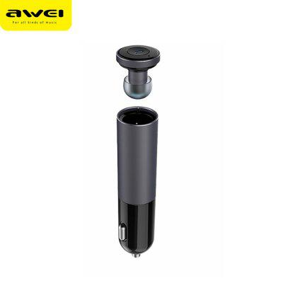 AWEI A870BL Bluetooth V4.1 Dual USB Car Charger Earphones