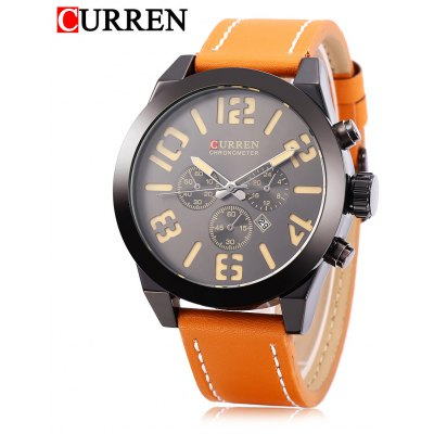 Curren 8198 Male Calendar Quartz Watch