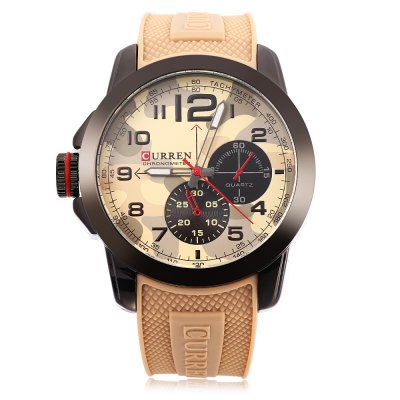 Curren 8182 Camouflage Dial Male Quartz Watch curren curren 6