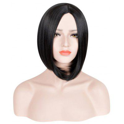 Europe Sexy Female Bobo Black Short Straight Hair Cosplay Wig