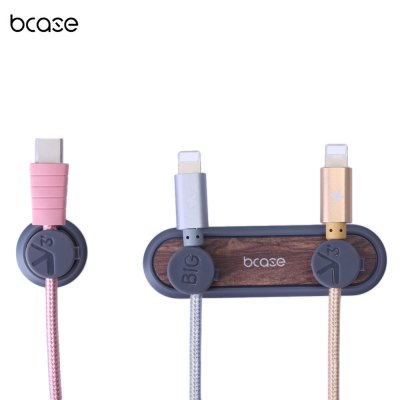 Bcase Tup Wood Magnet Data Cable Desktop Cord Clip