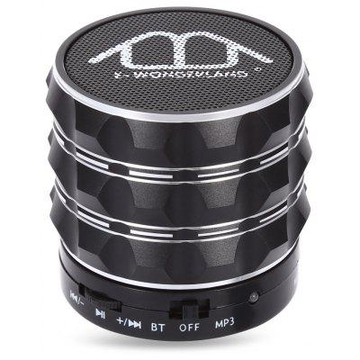 Buy BLACK E-WONDERLAND Bluetooth Bass FM Speaker for $8.31 in GearBest store