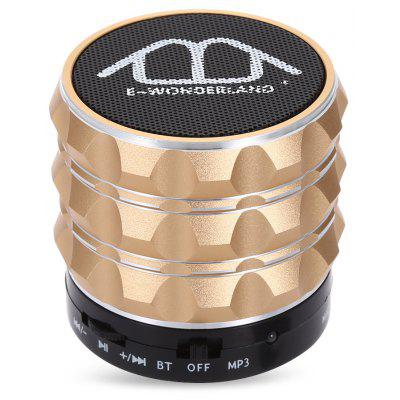Buy CHAMPAGNE E-WONDERLAND Bluetooth Bass FM Speaker for $8.31 in GearBest store
