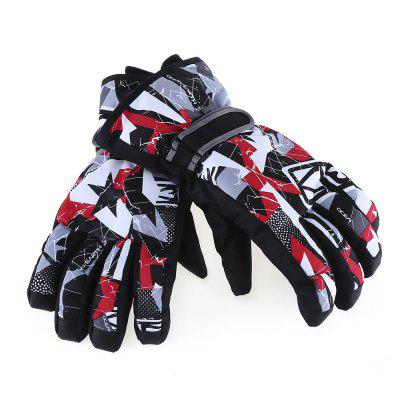 Marsnow Paired Outdoor Windproof Rainproof Skiing Gloves