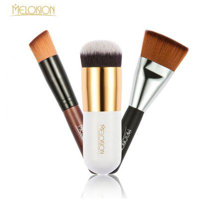Meloision 3pcs Cosmetic Tool Flat Head Blush Brush