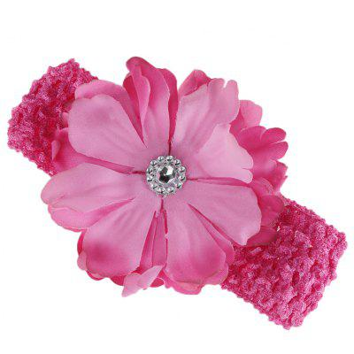 Peony Rhinestone Design Hair Accessories Girls Hair Band