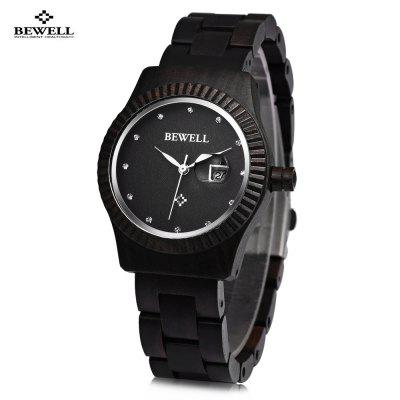 Bewell ZS - W064A Women Wooden Quartz Watch