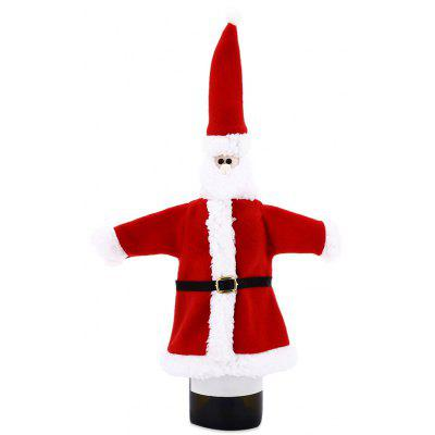 Christmas Wine Bottle Cover Santa Claus Costume Sweater