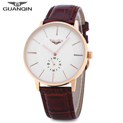 Buy GOLD AND WHITE GUANQIN BJ001 Men Quartz Watch for $27.78 in GearBest store