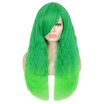 Harajuku Long Fluffy Corn Curly Shaggy Perm Side Bang Wigs