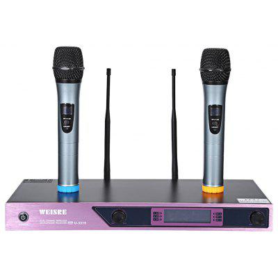WEISRE U - 3315 Professional VHF Wireless Microphone with Receiver