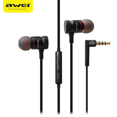 AWEI ES - 70TY 3.5MM Stereo Music Earbud Headphones