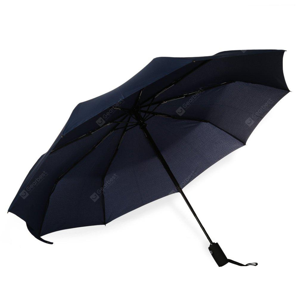 DEEP BLUE 3 Fold Automatic Open Close Button Umbrella