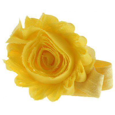 Flash Flower Decoration Pure Color Hairband for Babies