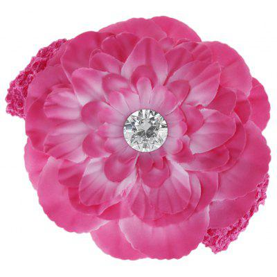Chic Flower Zircon Decoration Hairband for Babies