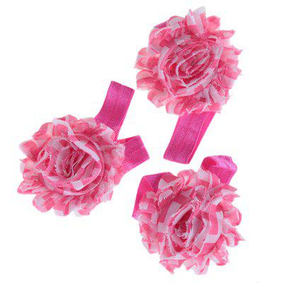 Floral Design Color Block Babies Hand Foot Flower Set