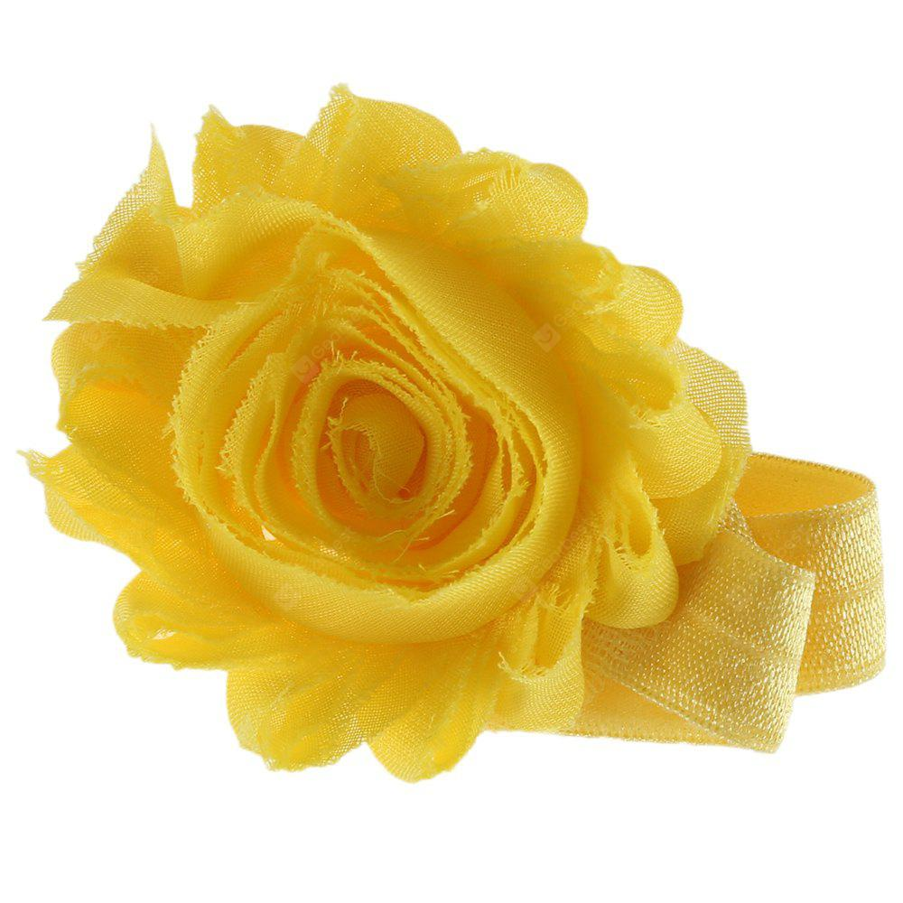 Flower Decoration Pure Color Hairband for Babies