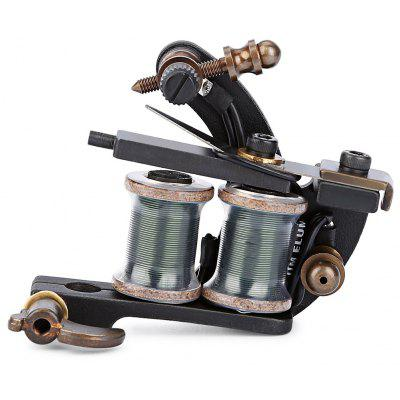 Tattoo Machine 10 Wrap Coils Iron Black Shader Gun
