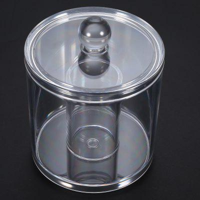Acrylic Round Makeup Cotton Pad Organizer Storage Container