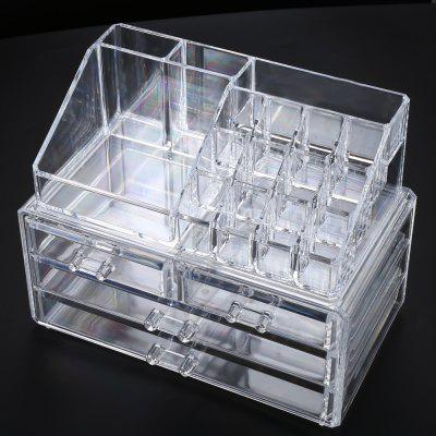 Acrylic Cosmetic Organizer Drawer Makeup Case Storage Box