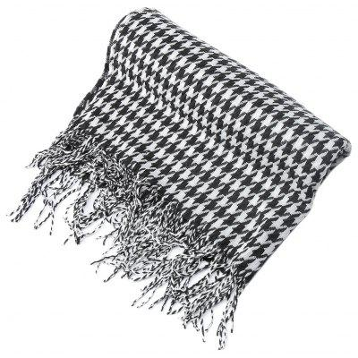 Houndstooth Design Ladies Warm Shawl