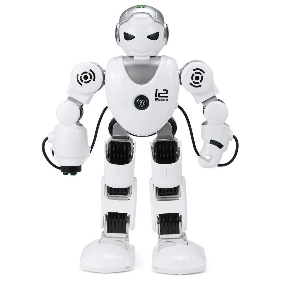Intelligent RC Robot 2.4G Dancing Battle Model Toy - WHITE AND BLACK