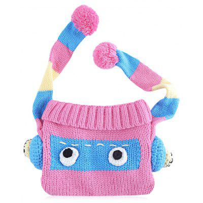 Babies Funny Cartoon Color Block Pom Pom Hat