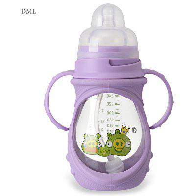 DML Babies 240ml Cute Cartoon Silicone Skidproof Feeder
