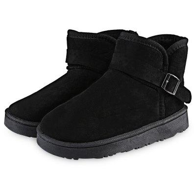 Pure Color Thickening Warm Ladies Snow Boots
