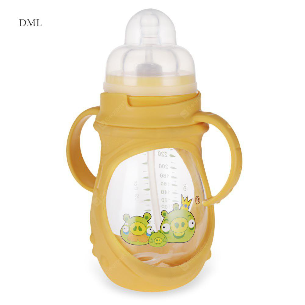 DML Babys 240ml Cute Cartoon Silikon Skidproof Feeder