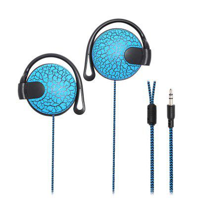 Crack Pattern Super Bass Stereo Hook Style Earphone