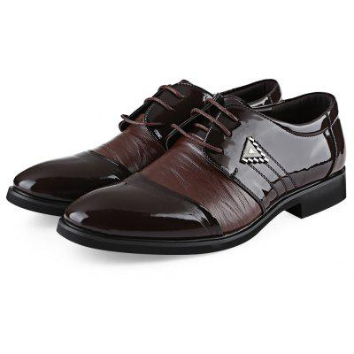 Pointe Toe Lace Up Pure Color Homme Business Chaussures en cuir