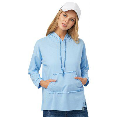 Casual Drawstring Pocket Design Women Hoodie