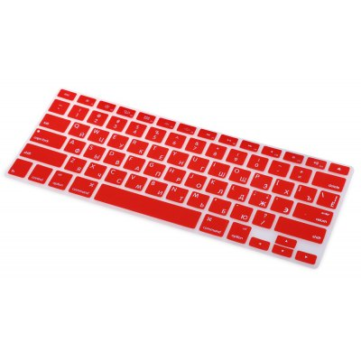 Water Resistant TPU American Russian Laptop Keyboard Protective Film for MacBook Air Pro 13 / 15 inch