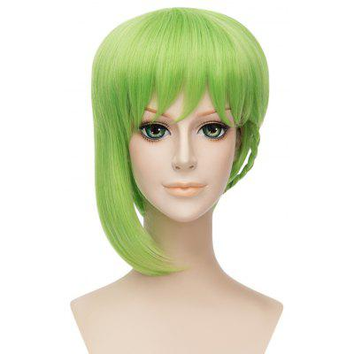 Short Green Wig with Braid Cosplay for Macross Reina Prowler Figure