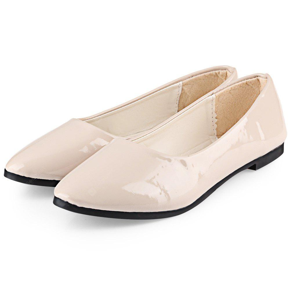 Casual Pure Color Patent Leather Flat Shoes for Women outlet 2014 unisex LDXtu