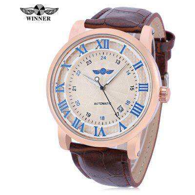 Winner 142 Men Auto Mechanical Luminous Watch