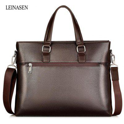 LEINASEN Classic Waterproof PU Tote Bag