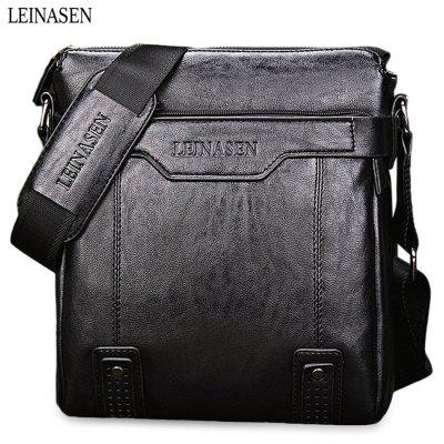 LEINASEN PU Leather Men Briefcase Shoulder Bag
