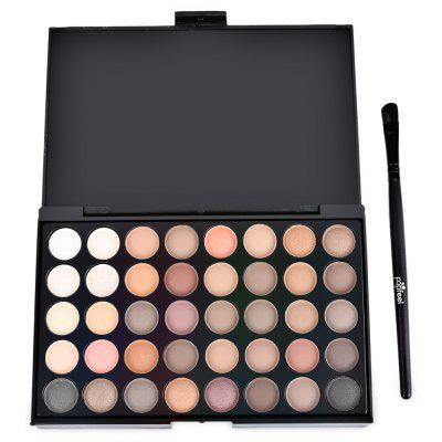 Popfeel 40 Color Pearly Matte Nude Eye Shadow s štetcom