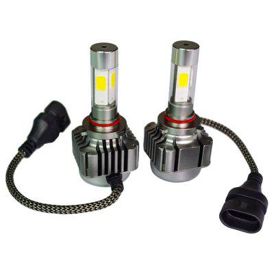 2pcs 9005 9006 H10 40W 4800LM Car Vehicle LED Headlight