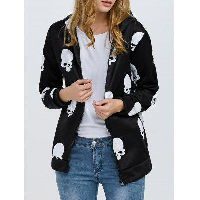 Trendy Print Zipper Type Coat for Ladies