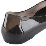 Bowknot Rhinestone Abbellimento Ladies Slip On Scarpe - NERO
