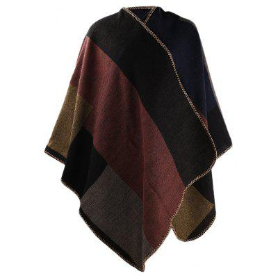 Estilo étnico Color Block Ladies Warm Scarf