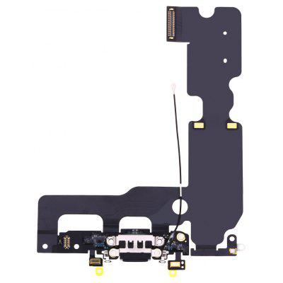 Buy BLACK USB Charging Port Flex Cable Ribbon for iPhone 7 Plus for $58.37 in GearBest store