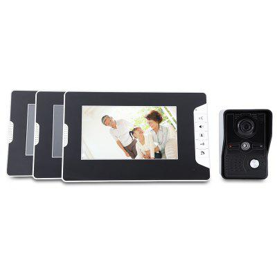 SY813MKB13 Doorbell Kit with 1 Camera 3 Monitor