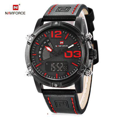 Gearbest NAVIFORCE NF9095M Men Dual Movt Watch - BLACK