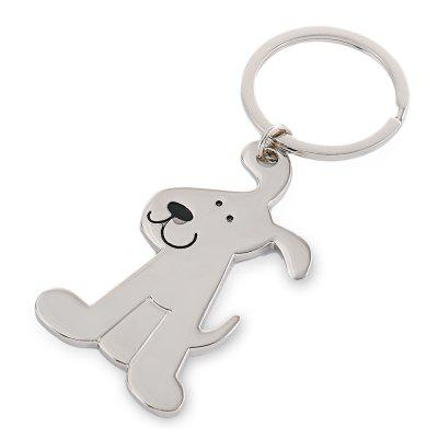 Zinc Alloy Cute Dog Design Keychain Keyring
