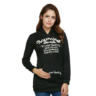 Pocket Decoration Sheath Women Hoodie