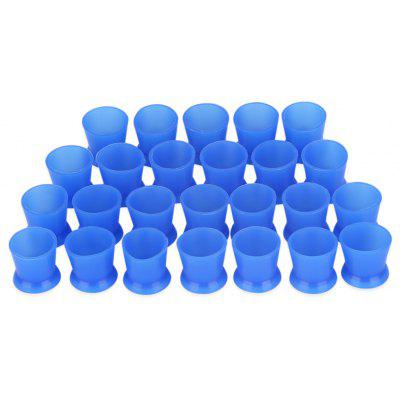 80pcs / Bag Blue Color Silicone Tattoo Ink Cups with Base Pigment Cap